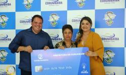 Entrega Cartão Solidário Municipal  as famílias de baixa renda de Corumbaíba
