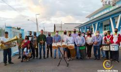 Alvorada com o banda Marcial do Colégio estadual Simon Bolívar