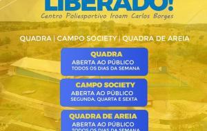 Prefeitura de Corumbaíba libera utilização do  Centro Poliesportivo Iroam Carlos Borges