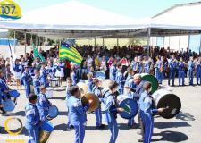 Apresentação da Banda Marcial do Colégio Estatual Simon Bolívar nos 107 anos de Corumbaíba