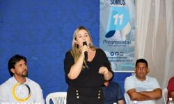 Fala da Ex Vereadora Wíwian Carneiro no Ato de filiação do PP - Partido Progressista em Corumbaíba