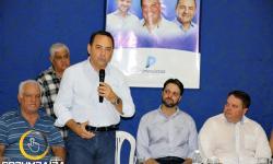 Fala Deputado Federal Adriano do Baldy durante a  filiação do PP - Partido Progressista  Corumbaíba