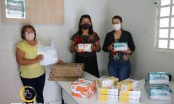 Rotary Clube de Corumbaíba faz doações de luvas e protetores a Secretaria de Saúde Municipal