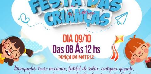 Festa em comemoração ao dia das crianças de Corumbaíba.