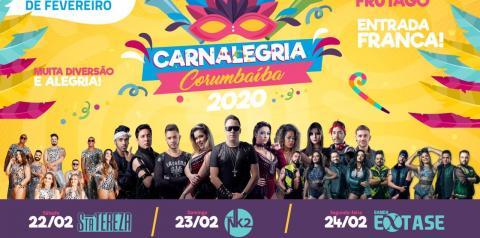 Prefeitura de Corumbaíba divulga atrações do Carnaval 2020