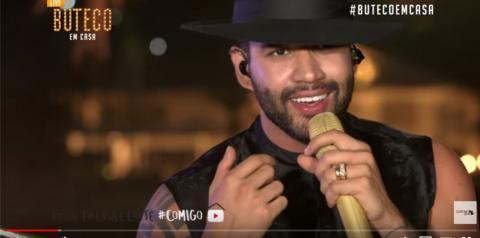 Gusttavo Lima faz show pela web por causa da quarentena e tem mais de 10 milhões de visualizações