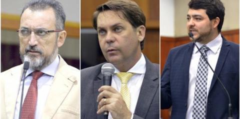 Deputados Aidar, Bruno Peixoto e Henrique Arantes apoiam aliança do MDB com Ronaldo Caiado