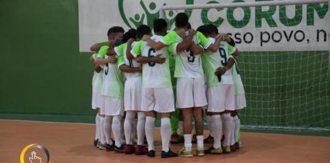 CEC CORUMBAÍBA vence mais uma e garante classificação na copa Goiás de Futsal