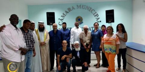 Missionários  do Kuait fazem palestra em Corumbaíba