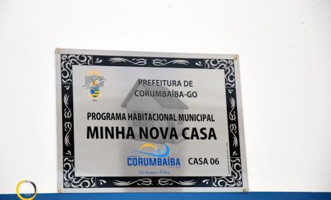 Prefeitura de Corumbaíba entrega da sexta casa do Programa Habitacional Municipal MINHA NOVA CASA