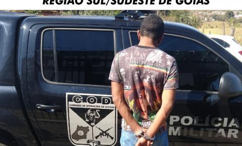 CPR RECAPTURA FORAGIDO DA JUSTIÇA NA REGIÃO SUL/SUDESTE DE GOIÁS