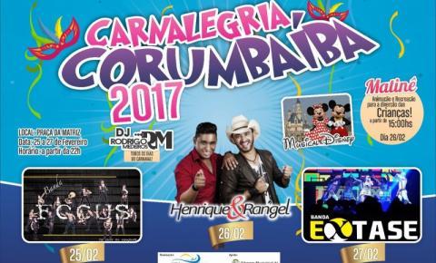 Prefeitura Municipal de Corumbaíba divulga programação Carnaval 2017