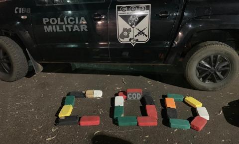 COD APREENDE APROXIMADAMENTE 37 KG DE PASTA BASE NA REGIÃO SUDOESTE DO ESTADO
