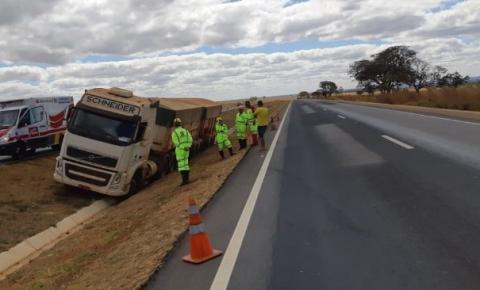 Caminhoneiro bêbado é preso após trafegar 10 km na contramão da BR-050