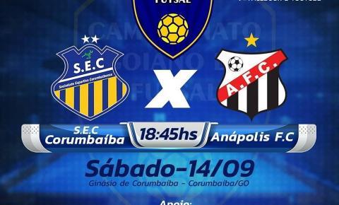 Corumbaíba Recebe hoje o time do Anápolis para o 2 confronto do Campeonato Goiano de Futsal