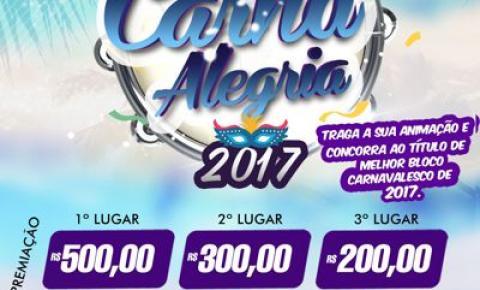 Prefeitura de Corumbaíba divulga regulamento dos desfiles dos blocos Carnaval 2017.