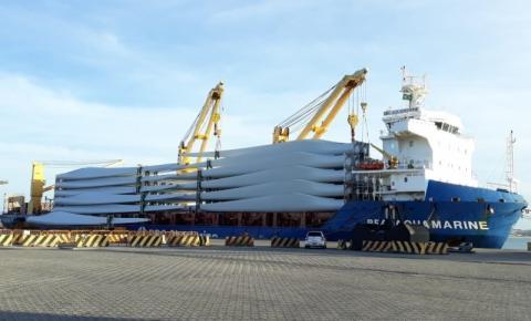 DHL e Vestas expandem maior projeto de transporte de pás eólicas para exportação no Brasil