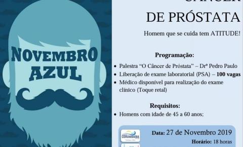 Secretaria de Saúde de Corumbaíba promovera Palestra sobre o Novembro Azul