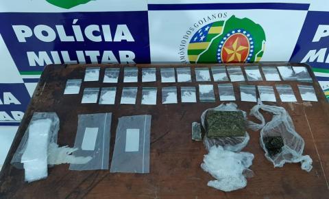 Em Corumbaíba Policia Militar apreende drogas e arma de fogo