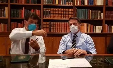 Bolsonaro faz live de máscara e diz aguardar resultado para coronavírus