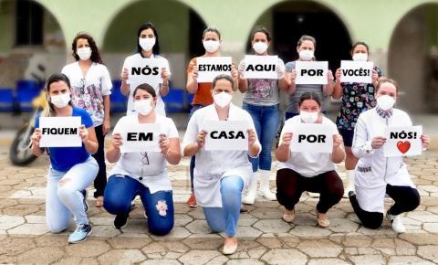 Equipe saúde de Corumbaíba deixa mensagem  para toda população