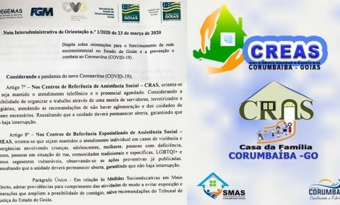 Comunicado da Secretaria de Assistência Social de Corumbaíba