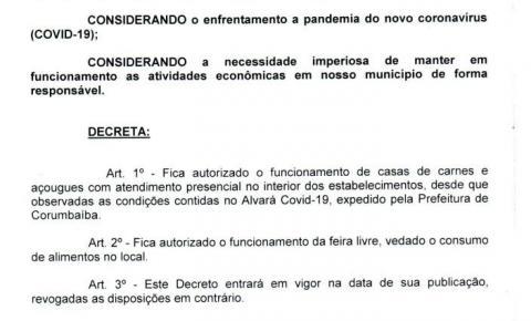 Novo decreto 1311/2020 que altera o decreto 1300 e 1310/2020.
