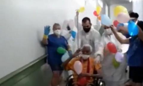 Em Buriti Alegre, idosa de 105 anos é curada da Covid-19