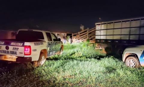 Batalhão rural em operação conjunta com o 18BPM recupera gado furtado no município de Cumari .Foram recuperadas 34 cabeças de gado que tinha sido furtadas e levadas p a cidade de Cristalina