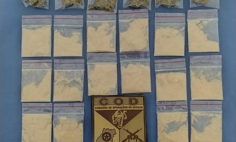 CPR/COD-PMGO PRENDE  CASAL EM CORUMBAÍBA POR TRÁFICO DE DROGAS