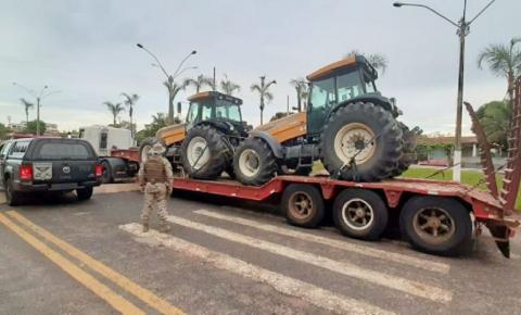 COD recupera tratores roubados em Minas Gerais avaliados em mais de R$ 400 mil