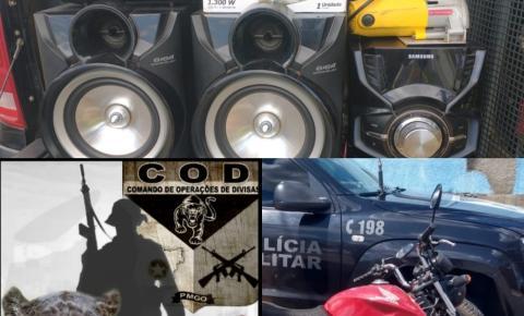 COD prende suspeitos e apreende drogas e recupera objetos furtados em Corumbaíba
