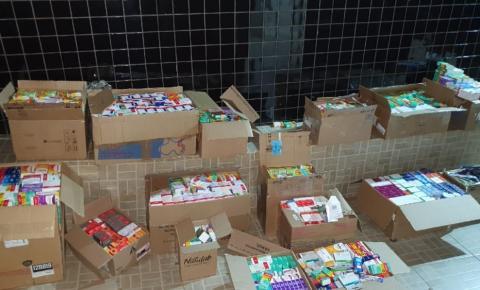 COD apreende carga de medicamentos avaliada em R$ 200 mil por sonegação fiscal, em Cumari