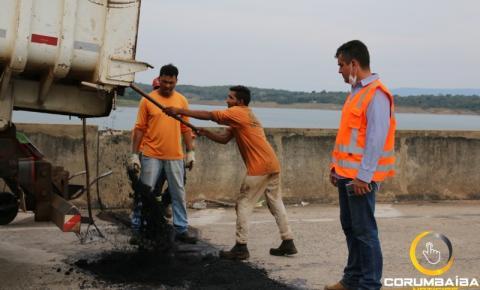GOINFRA  faz reparos na Ponte divisa de Goiás com Minas