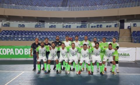 CEC  CORUMBAÍBA  estreia com empate na Copa do Brasil de Futsal