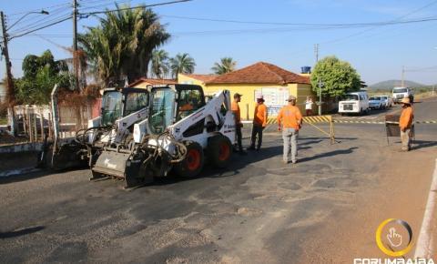 GO 139 - Trecho Urbano de Corumbaíba tem inicio de obras de recapeamento hoje 14/05