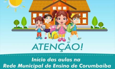 Volta as aulas na Rede Municipal de Educação de Corumbaíba