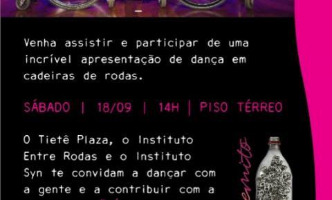 Tiete Plaza Shopping recebe apresentação de Dança em Cadeira de Rodas