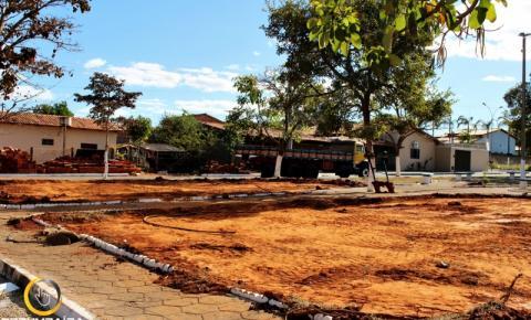 Prefeitura de Corumbaíba começa a construção de mais uma  academia ao ar livre e parquinho no setor Boa Vista