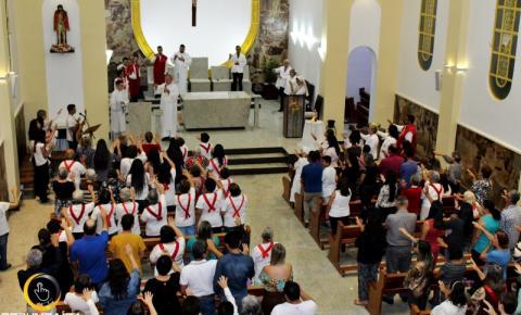 Missa em Ação de Graças, inauguração Interna da Igreja Senhor Bom Jesus da Cana Verde