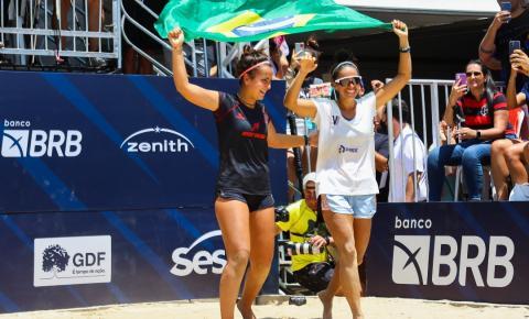 Sand Series de Beach Tennis: dupla brasileira é campeã em Brasília, após virada sensacional