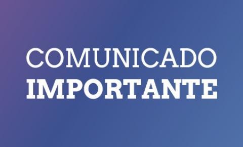COMUNICADO DA PREFEITURA MUNICIPAL DE CORUMBAÍBA