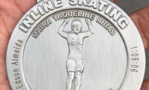 Edson Trakinas registra o melhor tempo de um brasileiro na BMW Berlin Marathon Inline Skating em Berlim
