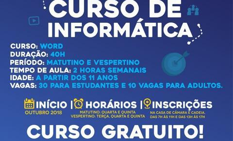 SECRETARIA DE EDUCAÇÃO DE CORUMBAÍBA OFERECE CURSO DE INFORMÁTICA