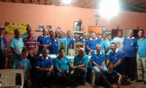 Terço dos Homens de  Corumbaíba Goiás recebe Imagnes de Nossa Senhora Aparecida e Divino Pai Eterno