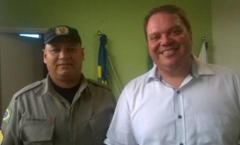 Prefeito Wisner Araújo recebe visita do Comandante Polícia Militar de Corumbaíba SGT. Ronaldo