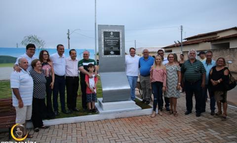 Inauguração da Praça Jovino Pimenta de Pádua