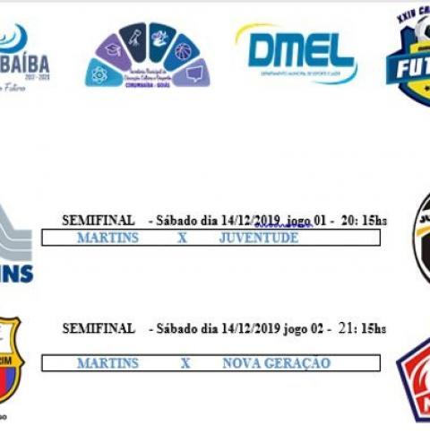 Semifinal do 24º Campeonato Municipal de Futsal de Corumbaíba edição 2019
