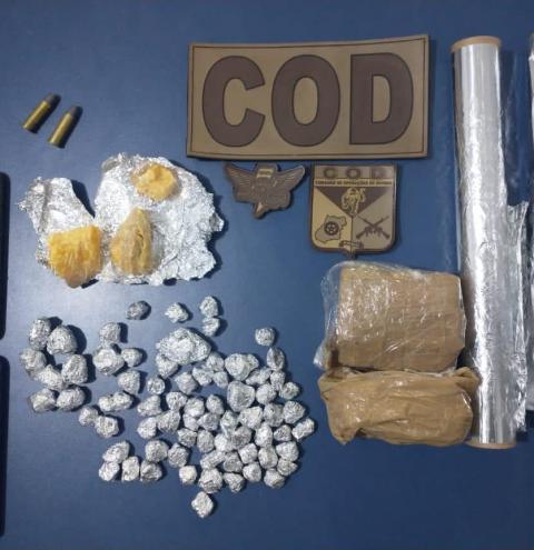 CPR/COD-PMGO NO COMBATE AOS CRIMES DE TRÁFICO DE DROGAS, ASSOCIAÇÃO PARA O TRÁFICO, CORRUPÇÃO DE MENORES E POSSE IRREGULAR DE MUNIÇÕES NA REGIÃO SUL DO ESTADO