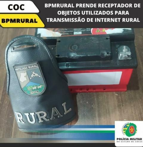 RECEPTADOR DE OBJETOS UTILIZADOS PARA TRANSMISSÃO DE INTERNET RURAL E PRESO NO MUNICÍPIO DE NOVA AURORA